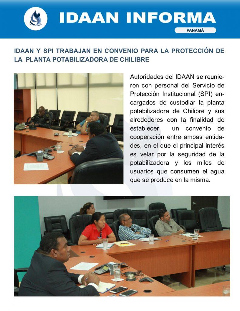 IDAAN y SPI trabajan en convenio para la protección de la planta potabilizadora de Chilibre