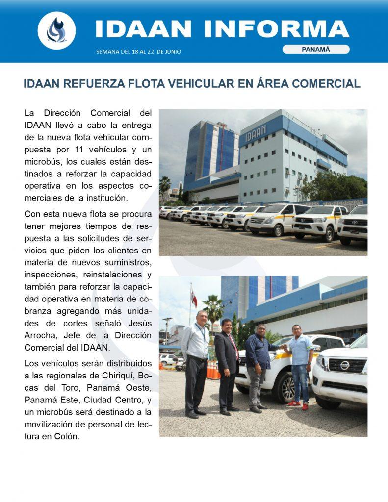 IDAAN refuerza flota vehicular en área comercial
