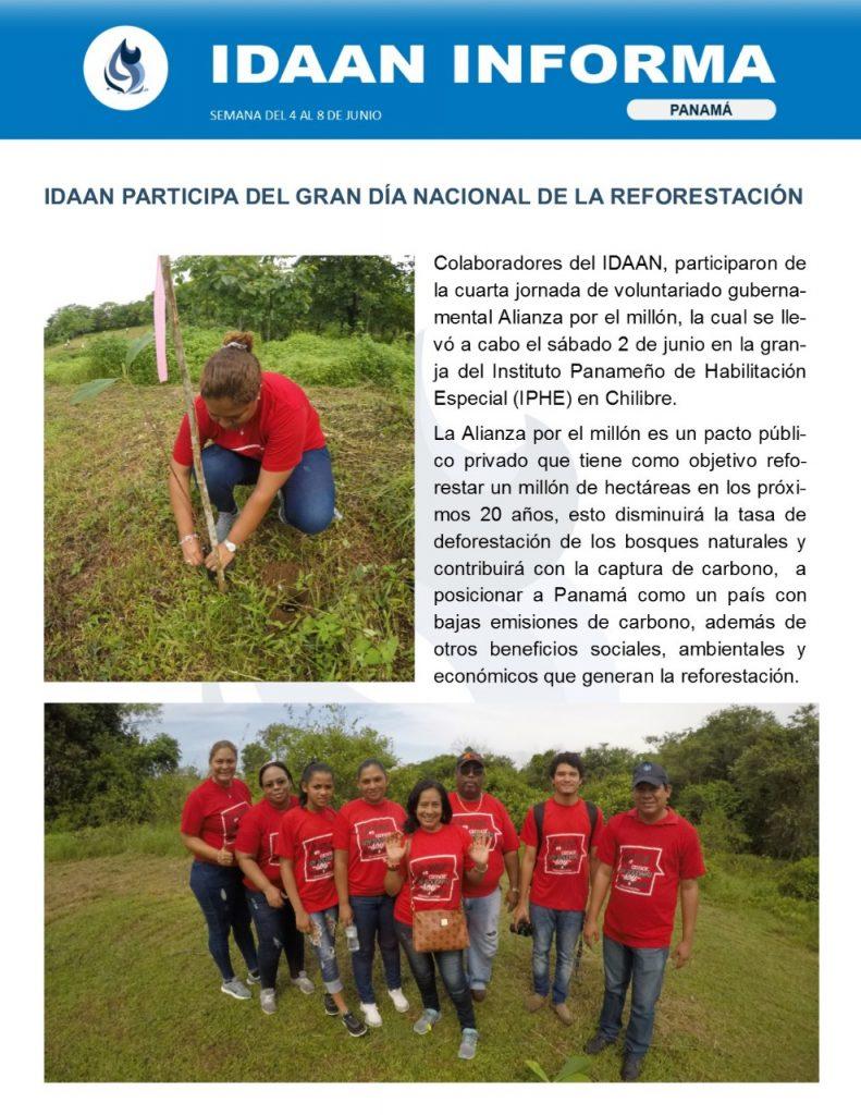 IDAAN participa del gran día nacional de la reforestación