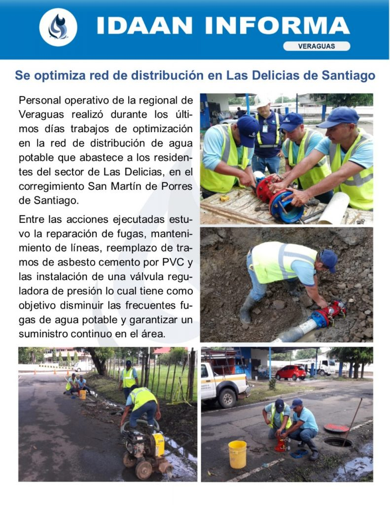 Se optimiza red de distribución en Las Delicias de Santiago