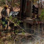 Perforación de pozo en  El Cocal, Las Tablas