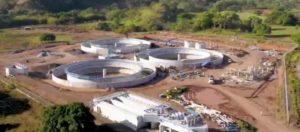 67% de avance tiene la Construcción de la Planta de Tratamiento de Aguas Residuales de Santiago.