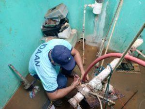 Técnicos del IDAAN mejoran funcionamiento de fuentes subterráneas en Capira.